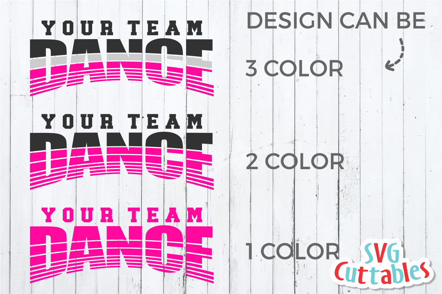 Dance Template 002 | SVG Cut File example image 3