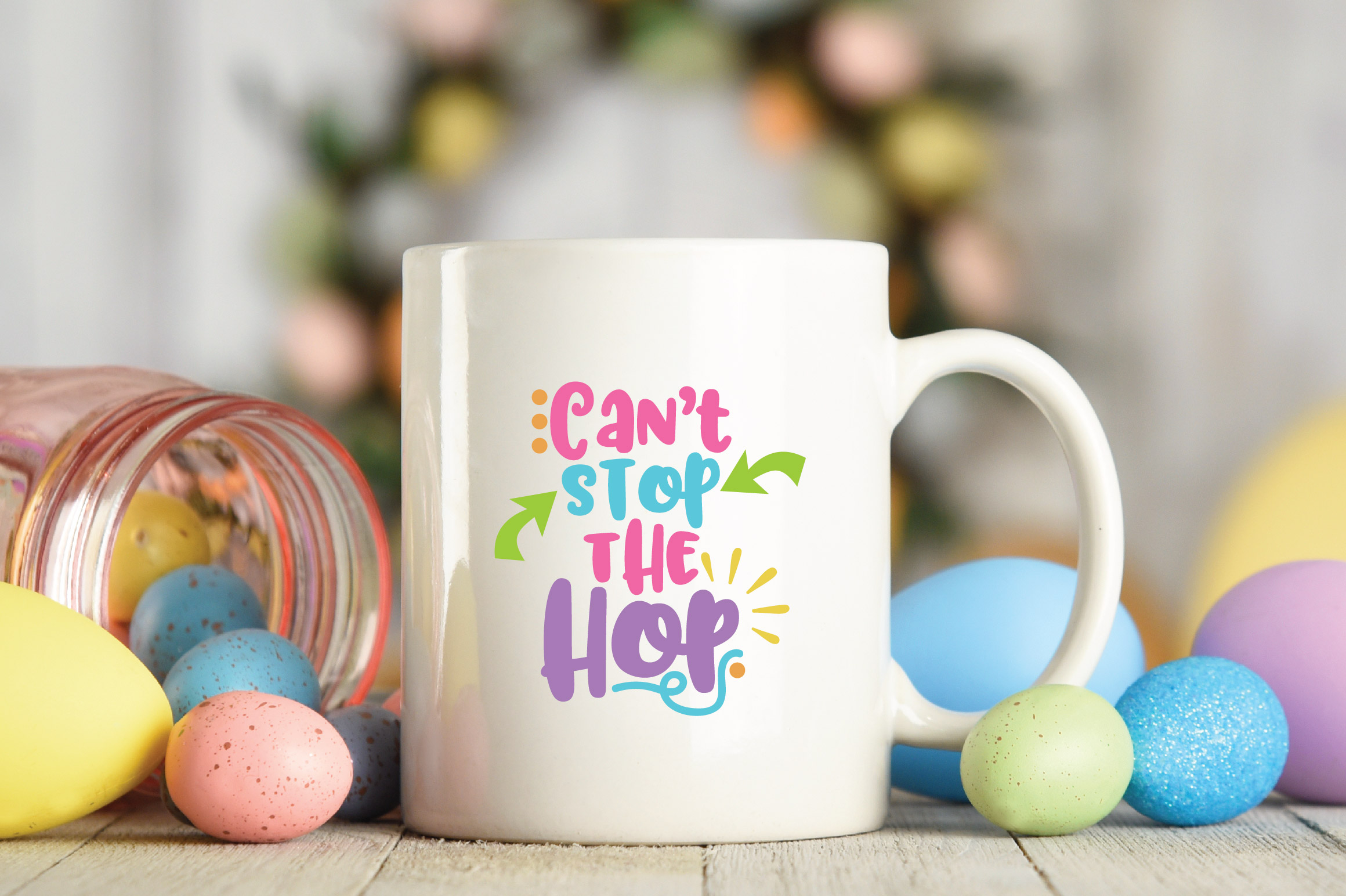 Easter SVG Cut File - Can't Stop the Hop SVG DXF EPS PNG AI example image 4