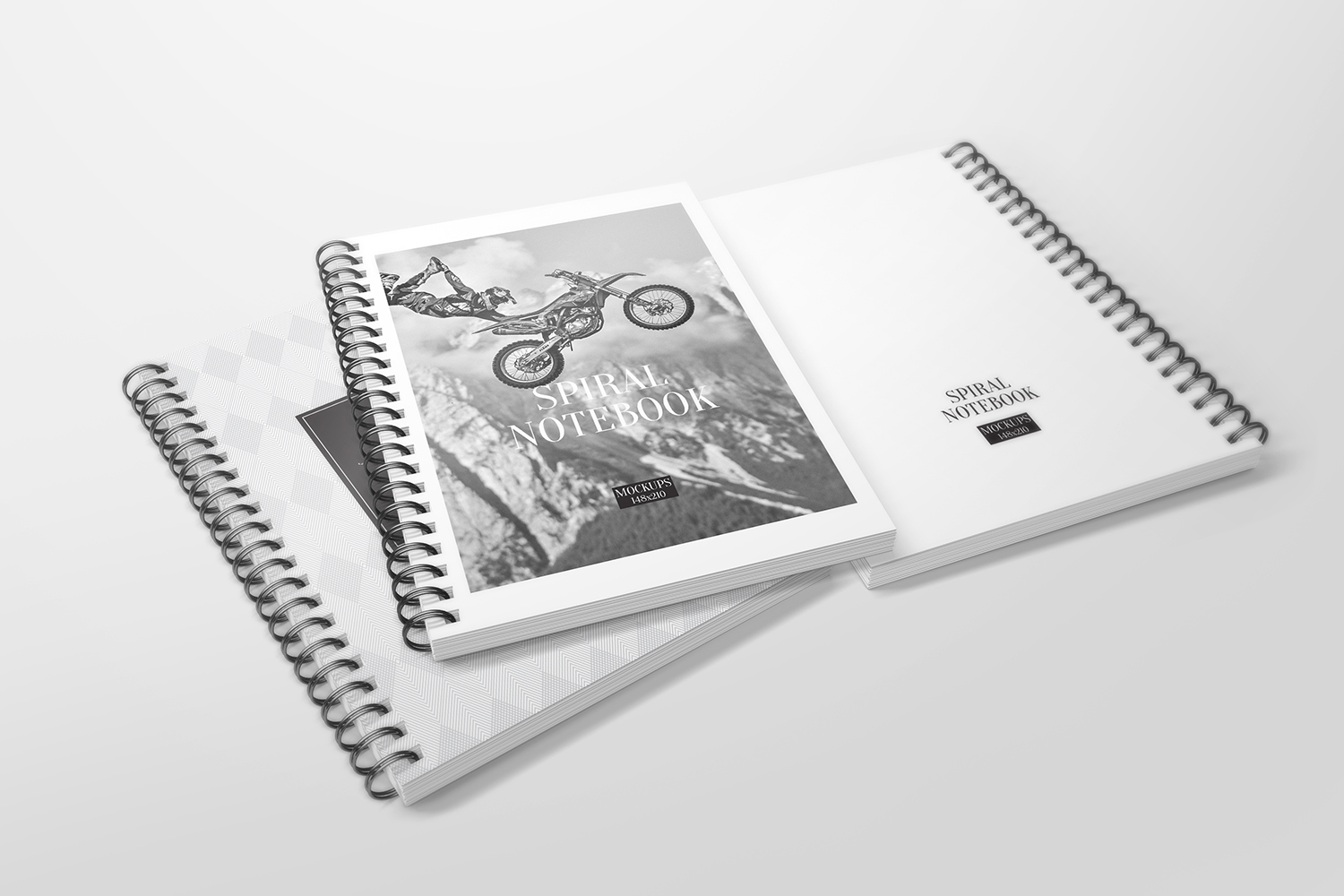 A5 Spiral Notebook Mockups example image 4