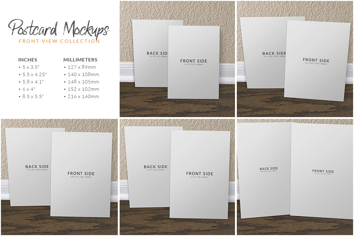 Postcard Mockup Bundle example image 8