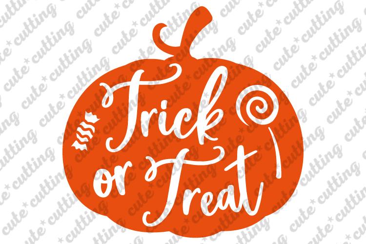 Trick or treat svg, Halloween svg, pumpkin svg, png, dxf example image 1