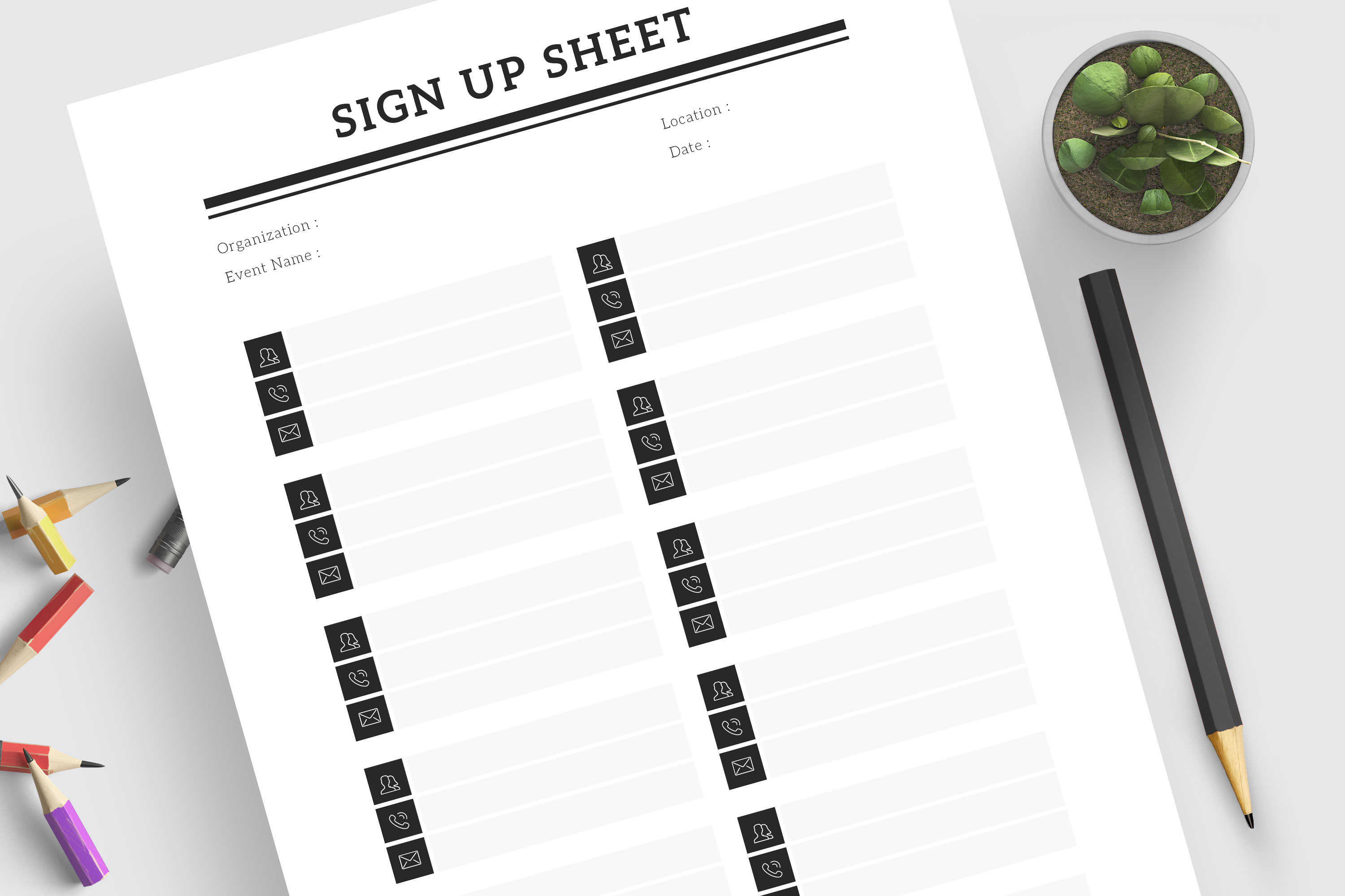 Sign Up Sheet example image 3