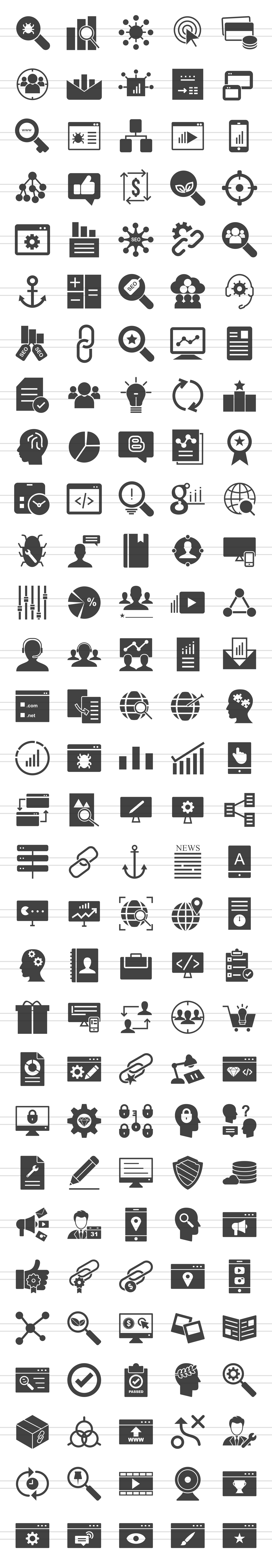 150 IT Services Glyph Icons example image 2