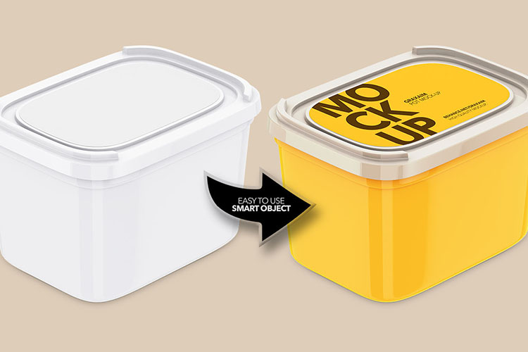 Plastic Container - With Paper Label example image 3