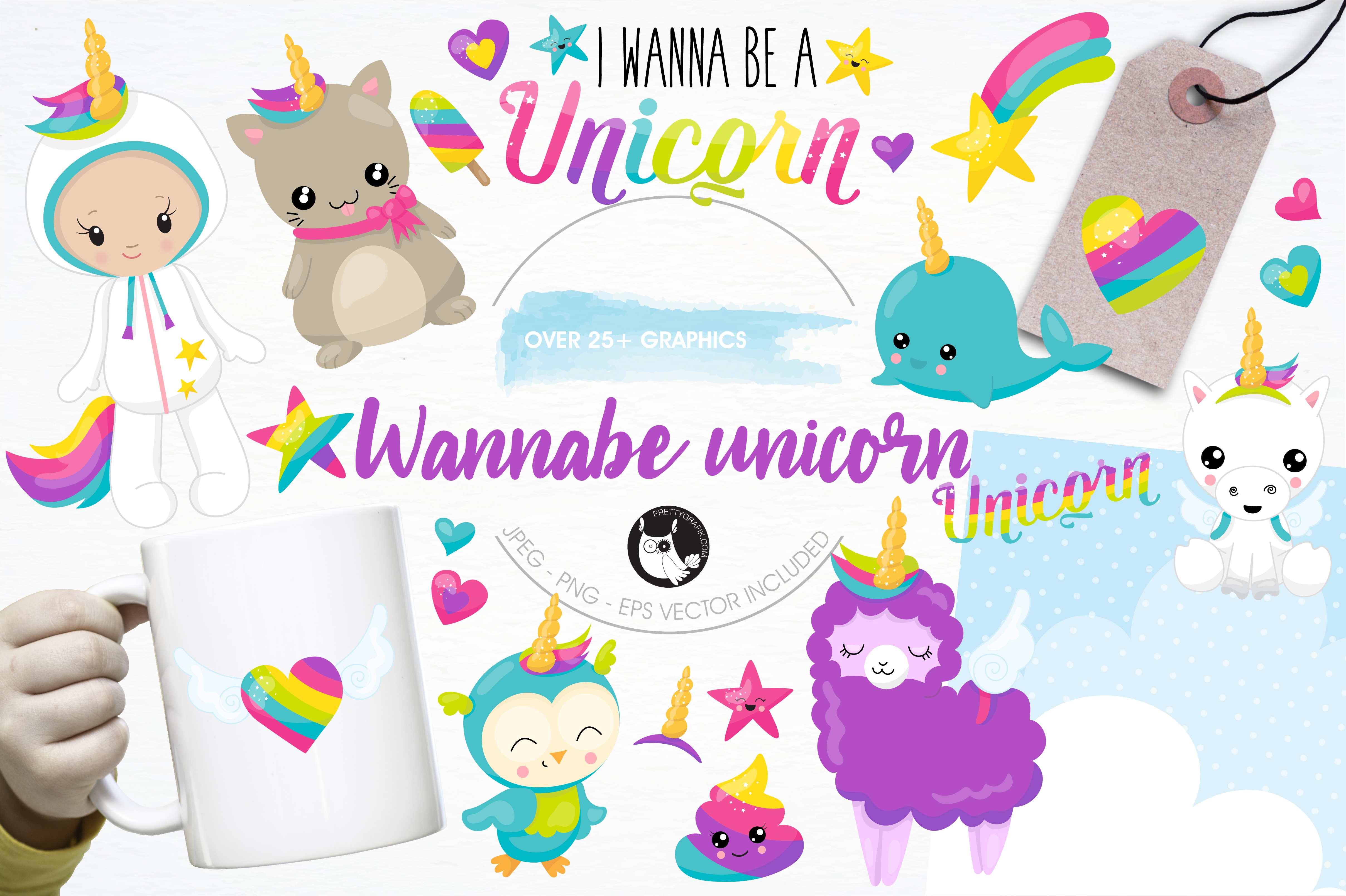 Wannabe unicorn graphics and illustrations example image 1