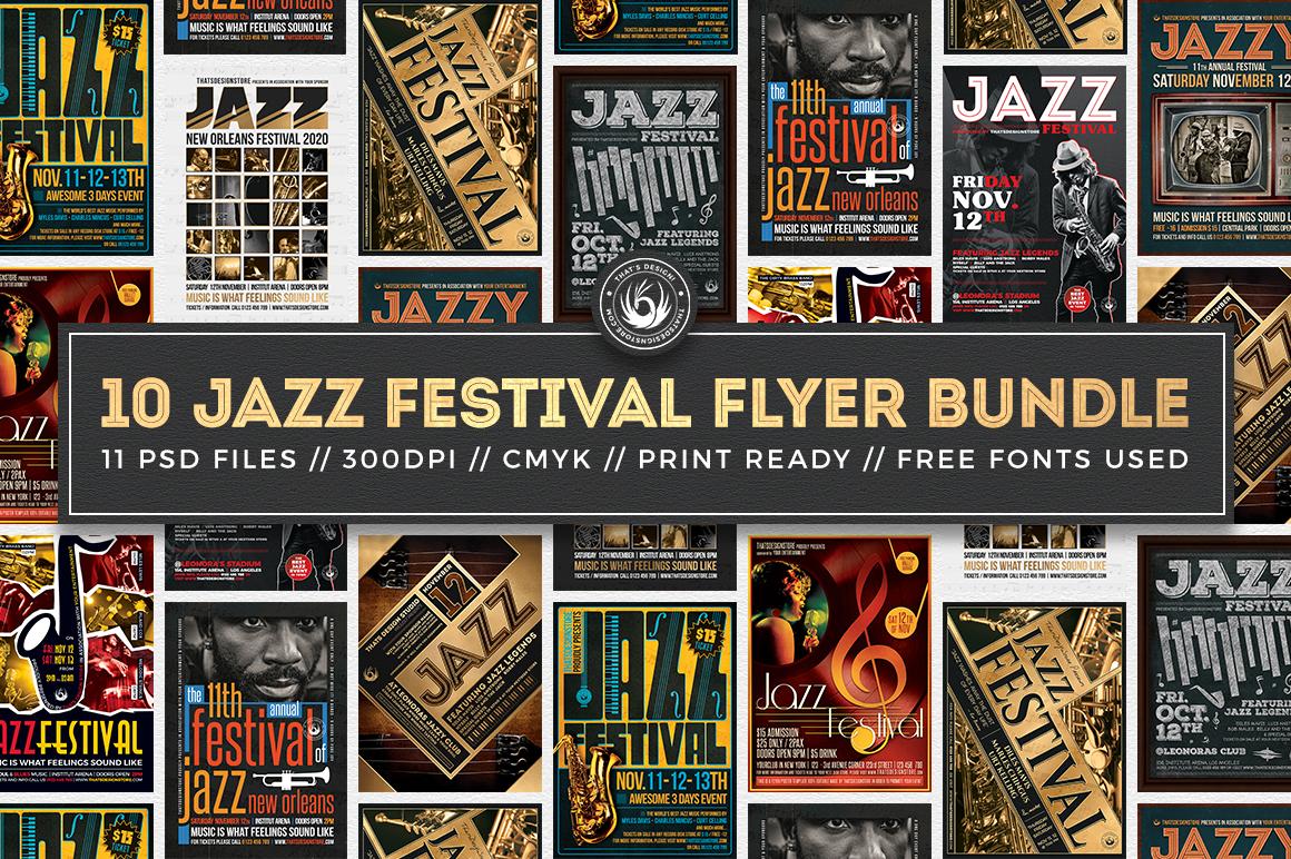 10 Jazz Festival Flyer Bundle example image 1