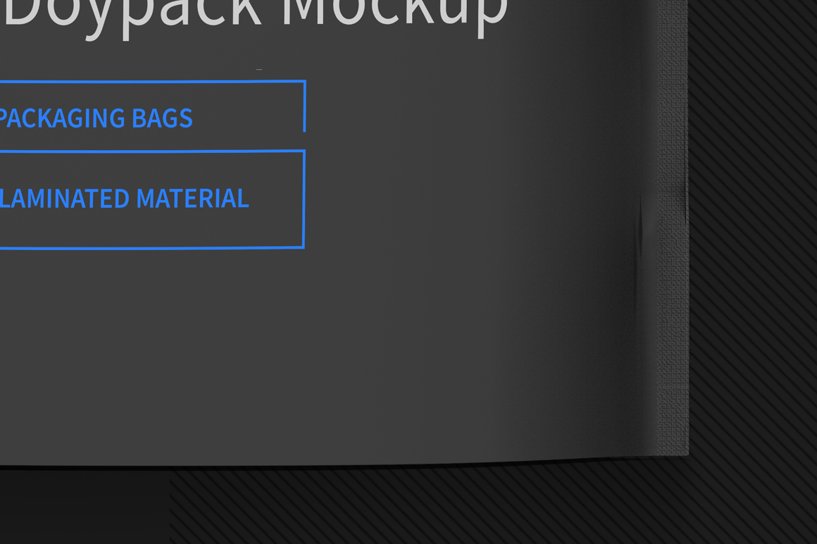 Black Bag Stand up Pouch Doypack Mockup example image 4