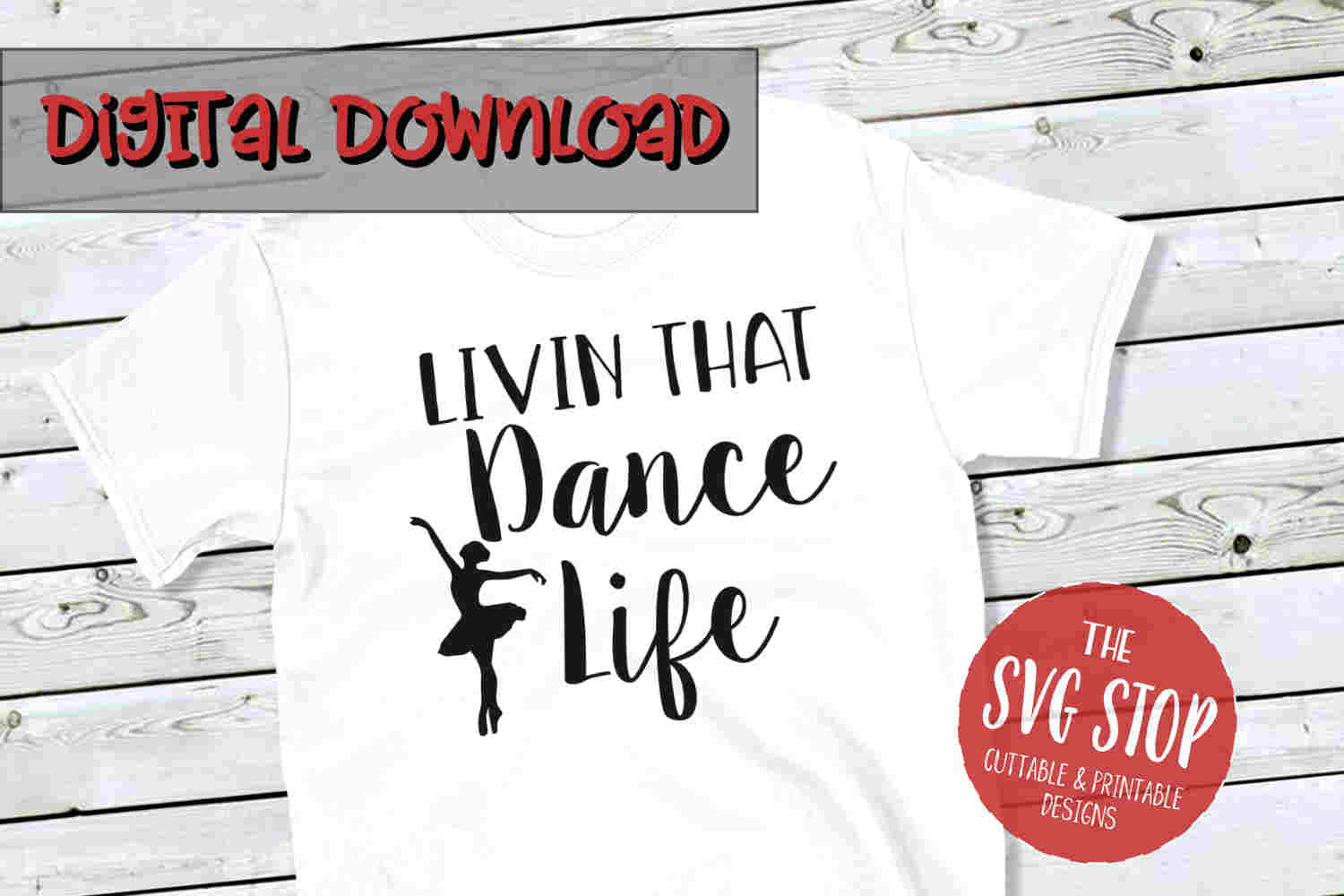 Dance Life -SVG, PNG, DXF example image 1