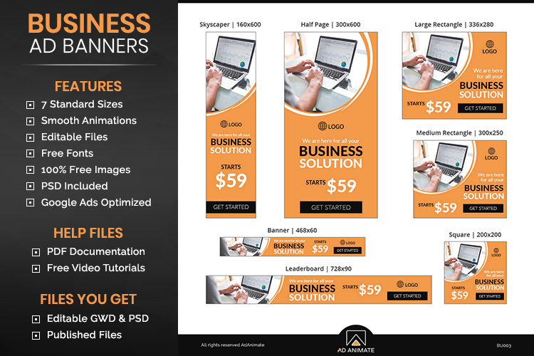 Business Banner Animated Ad Template - BU003 example image 1