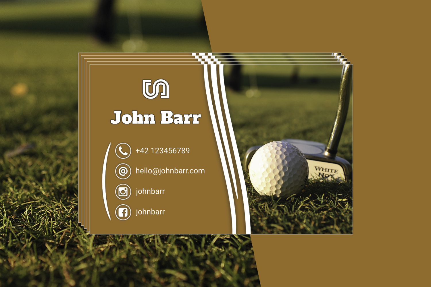 12 Sport Business Card Templates example image 5