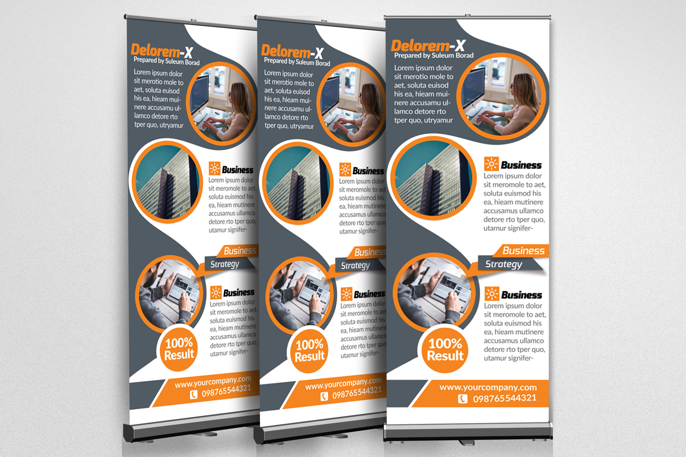 Business Roll Up Banner print Templates example image 2