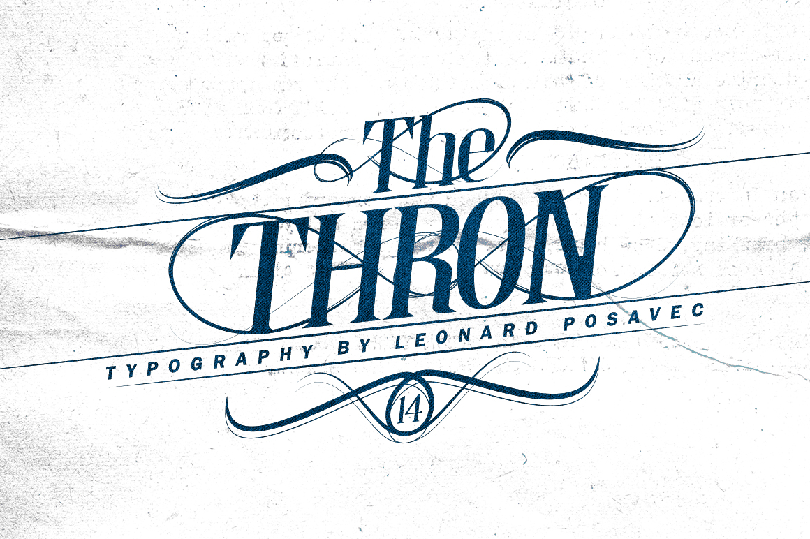Thron Font example image 3