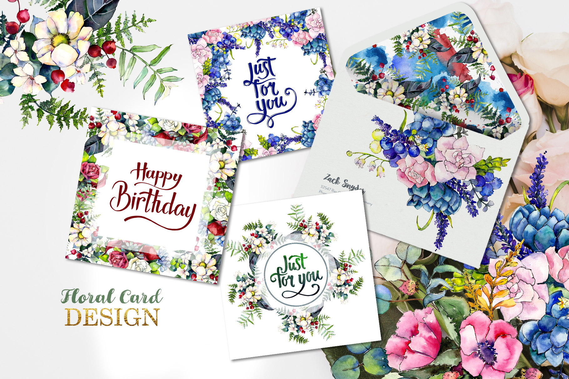 Gorgeous Flower Bouquets Watercolor png example image 3
