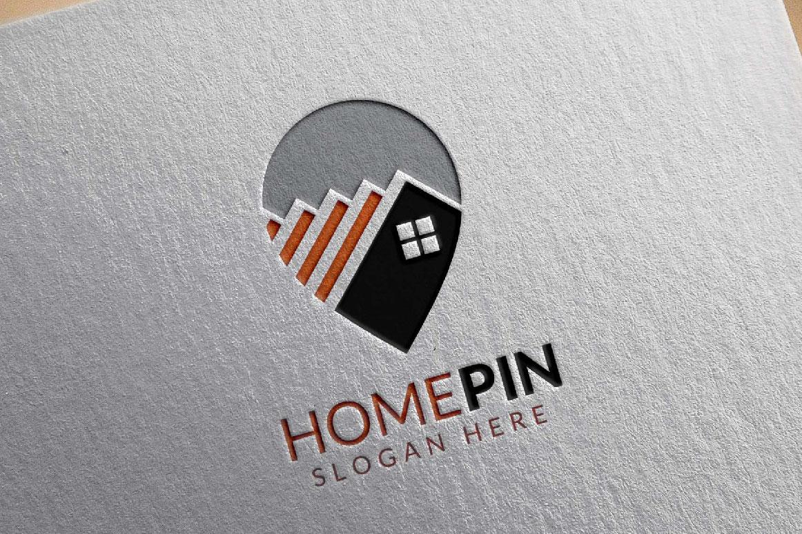 Home Pin Logo, Real estate logo example image 6
