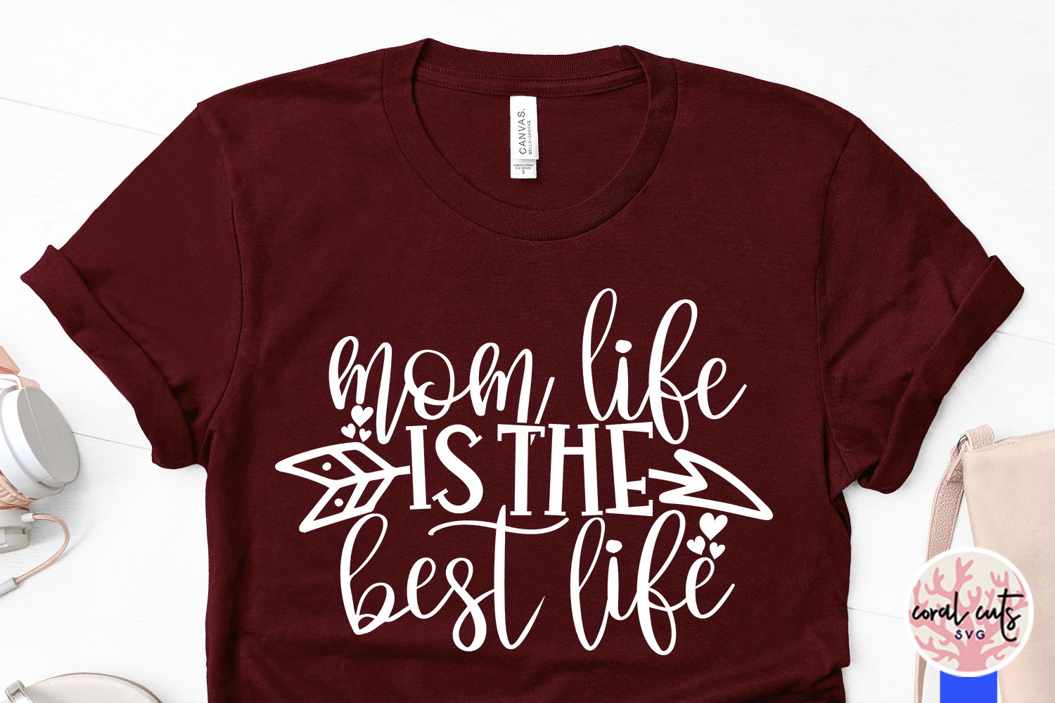 Mom life is the best life - Mother SVG EPS DXF PNG Cut File example image 3
