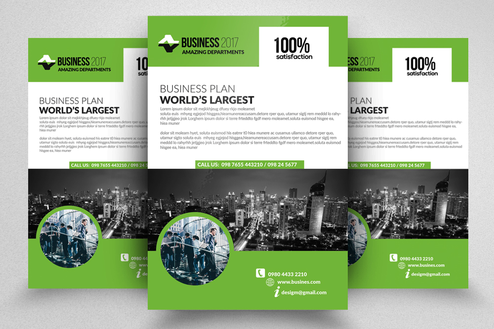 10 Corporate Psd Flyer Templates Bundle example image 5