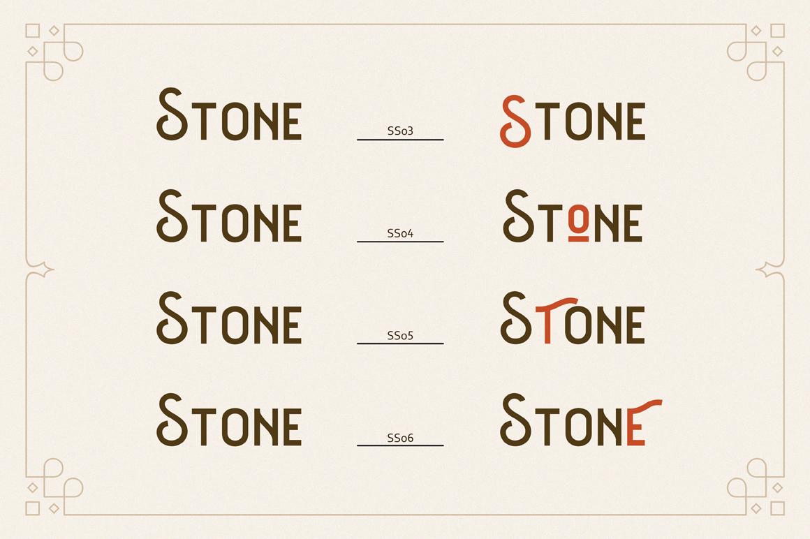 The Barra |7 Font Family + Bonus example image 3