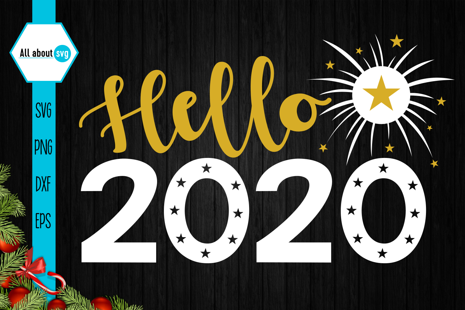 Hello 2020, New Year Svg example image 2