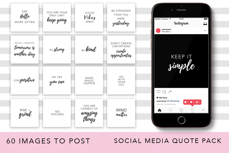Girl Boss Instagram Quote Pack example image 3
