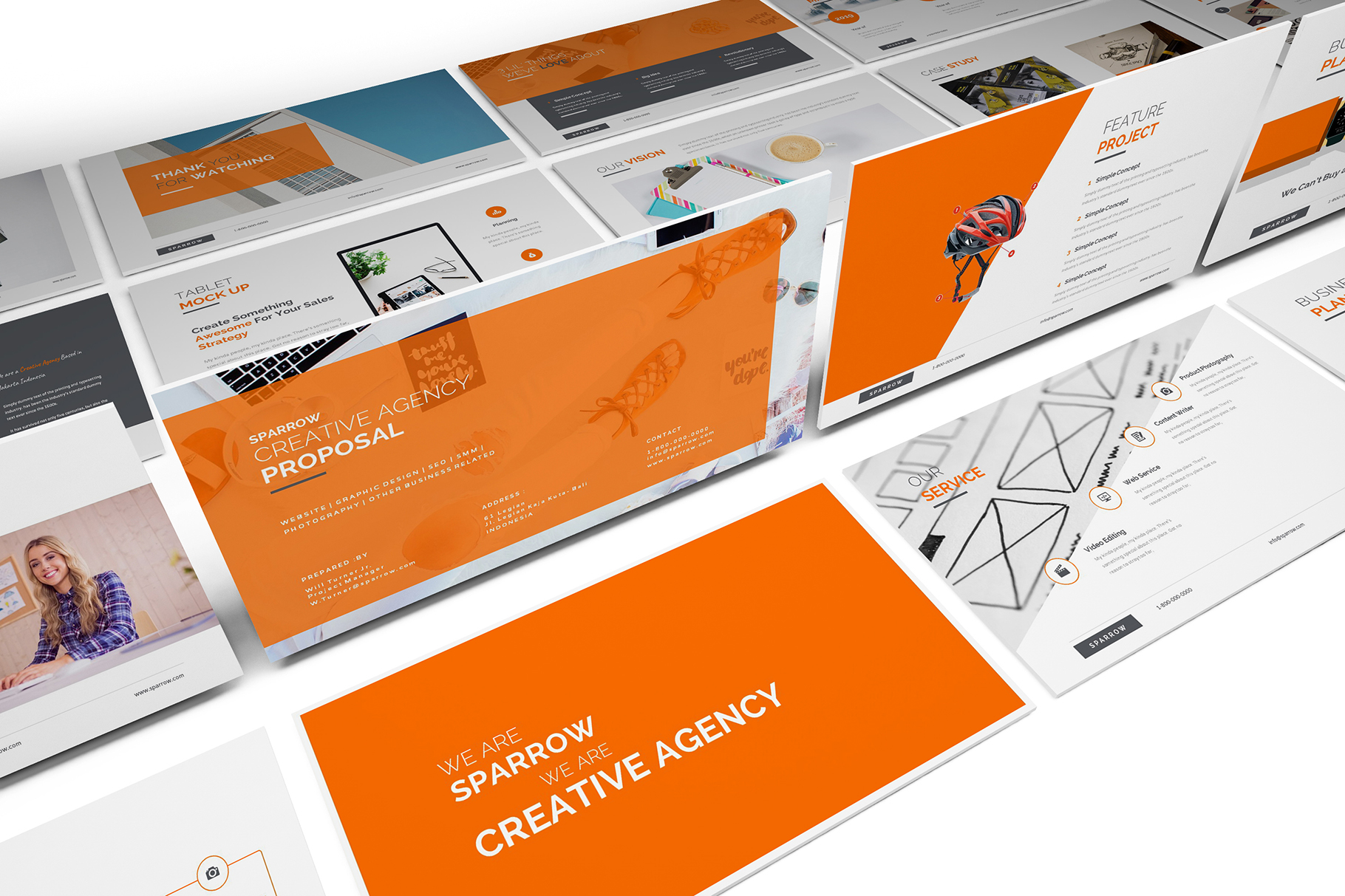 Sparrow - Creative Agency Powerpoint example image 10