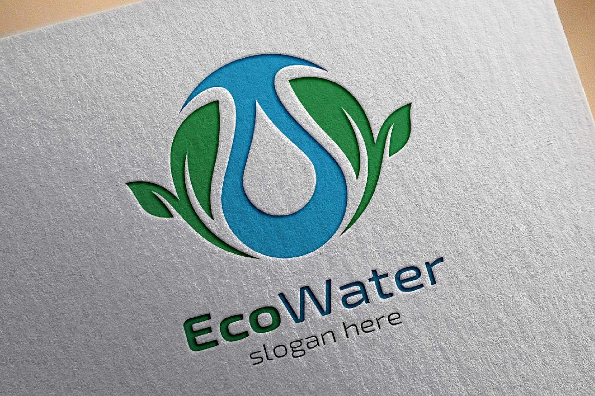Eco water, Eco energy logo template example image 1