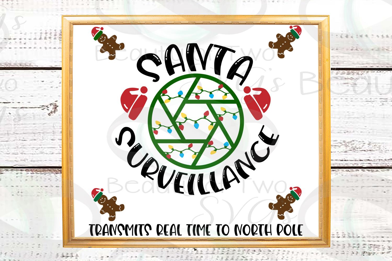Santa Camera svg sign design cut file Santa svg Surveillance example image 2