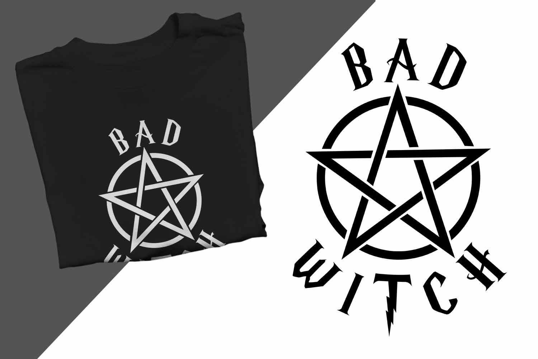 Bad Witch Halloween Printable example image 1
