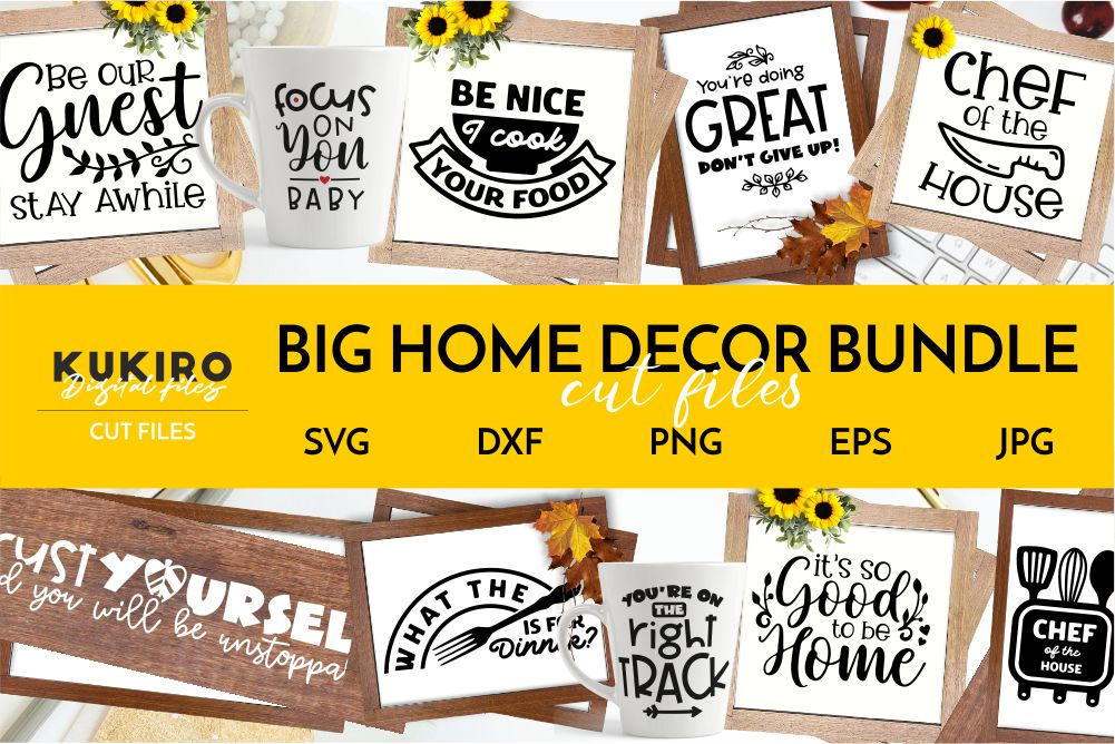 BIG HOME DECOR BUNDLE - Home, Office and funny Kitchen signs example image 1