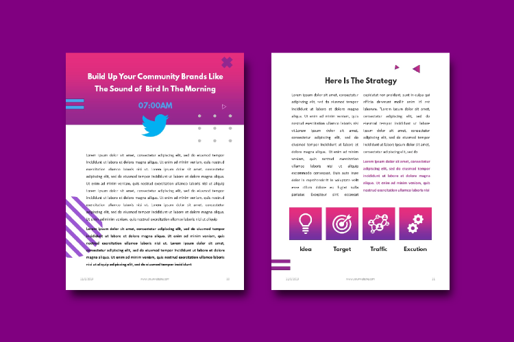 Social Media Marketing Tips eBook Template Keynote Presentat example image 7