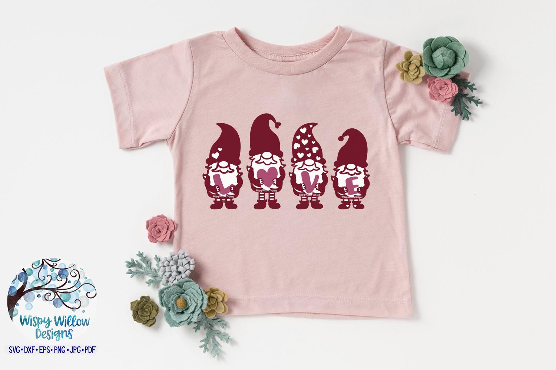 Gnome Love SVG | Valentine's Day Gnome Sign SVG Cut File example image 2