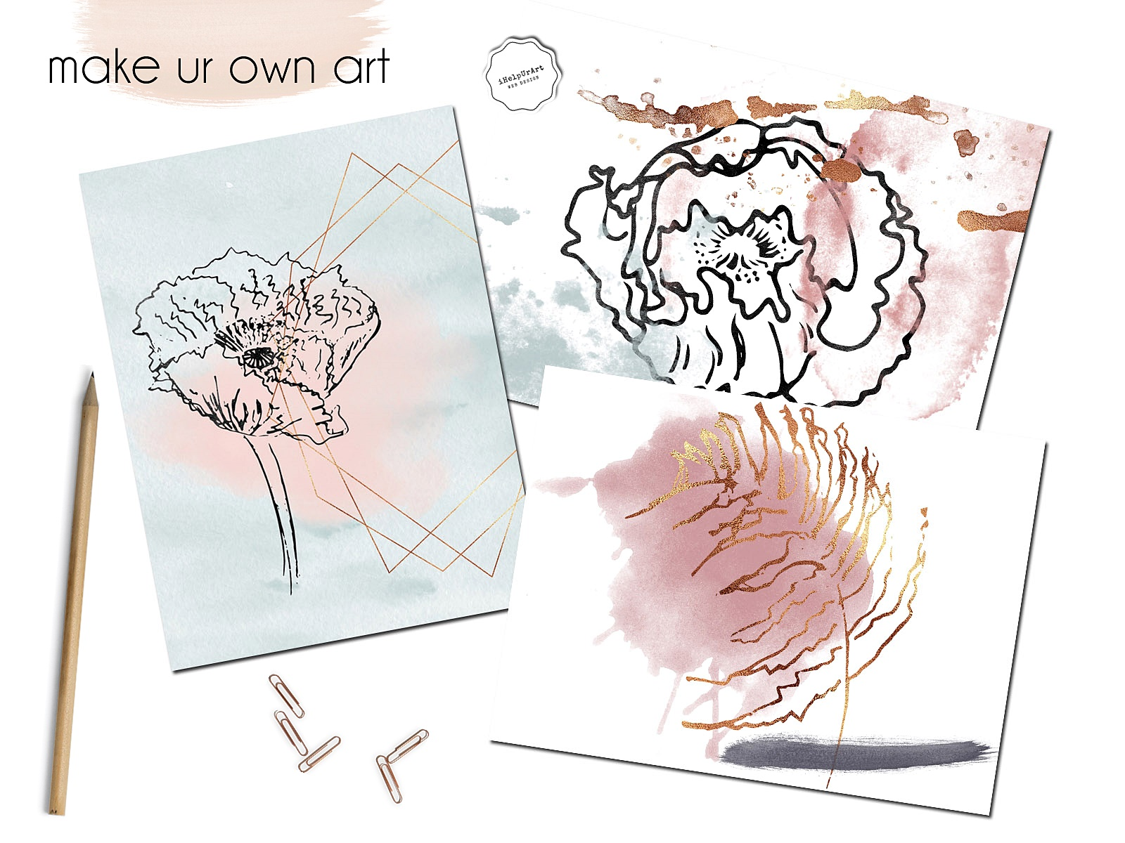 Copper and Watercolor Design Kit example image 3