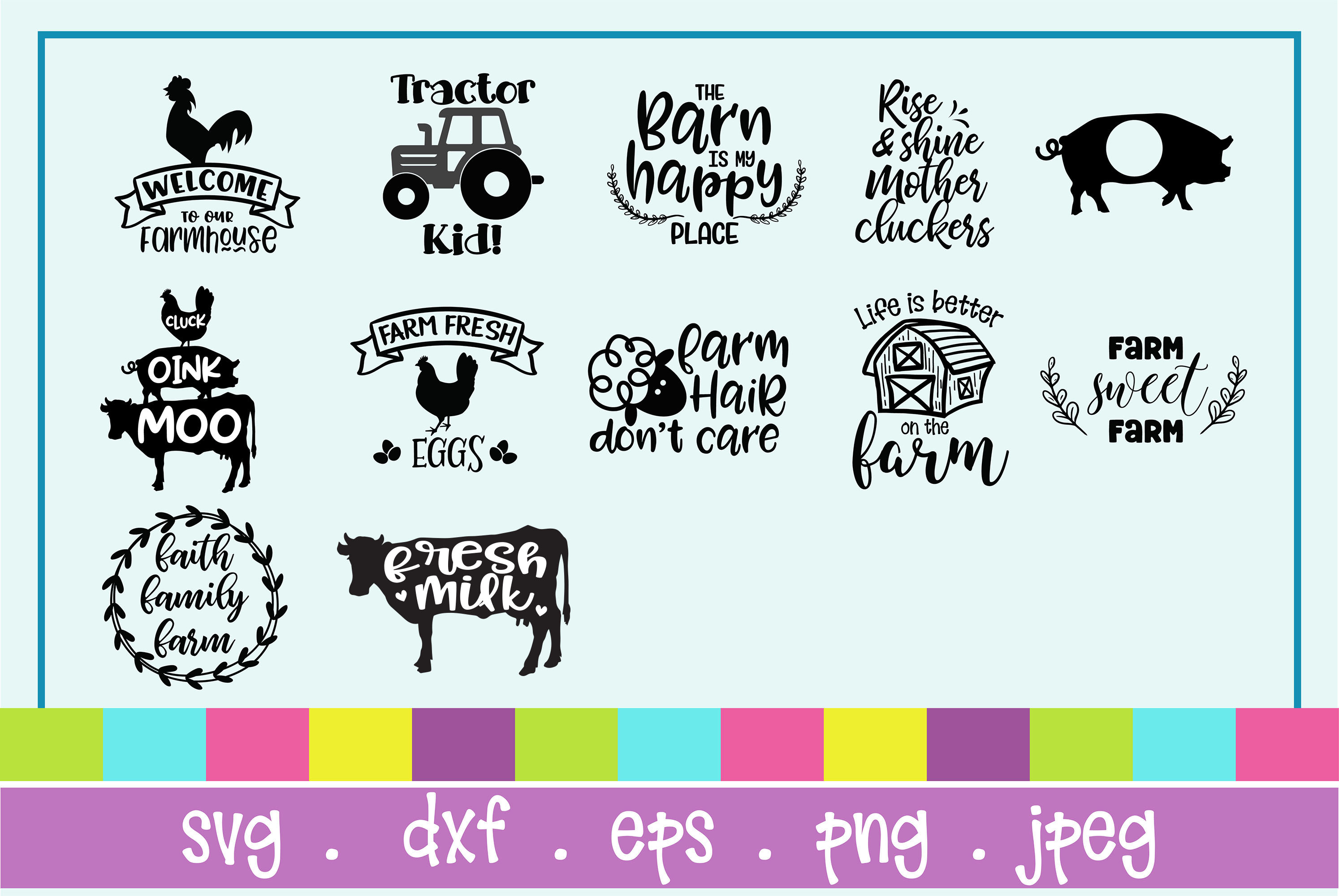 The Huge SVG Bundle Vol 2, 500 Cutting files, SVG, DXF,PNG example image 30