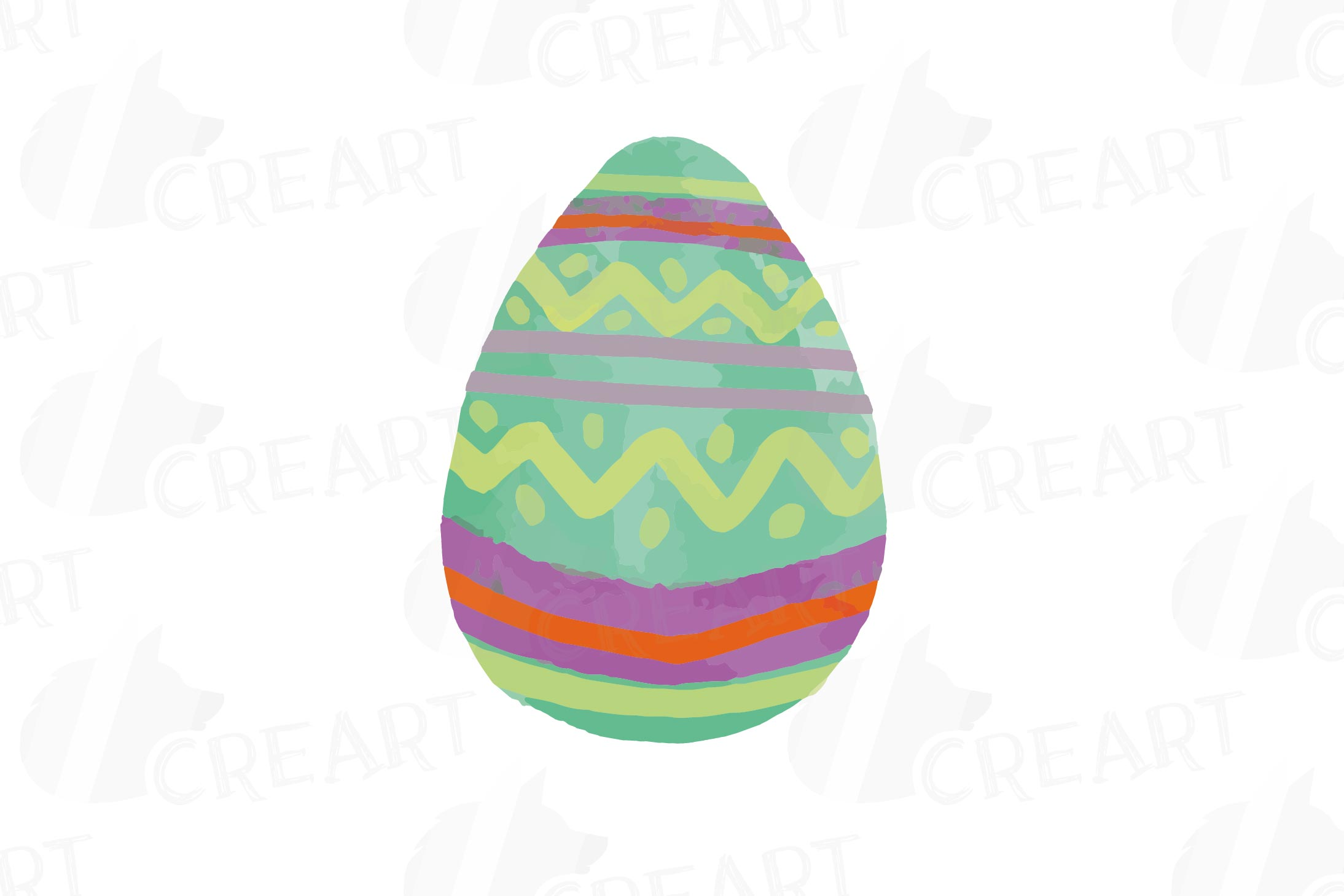 Colorful Easter elements clip art pack, printable hand drawn example image 6