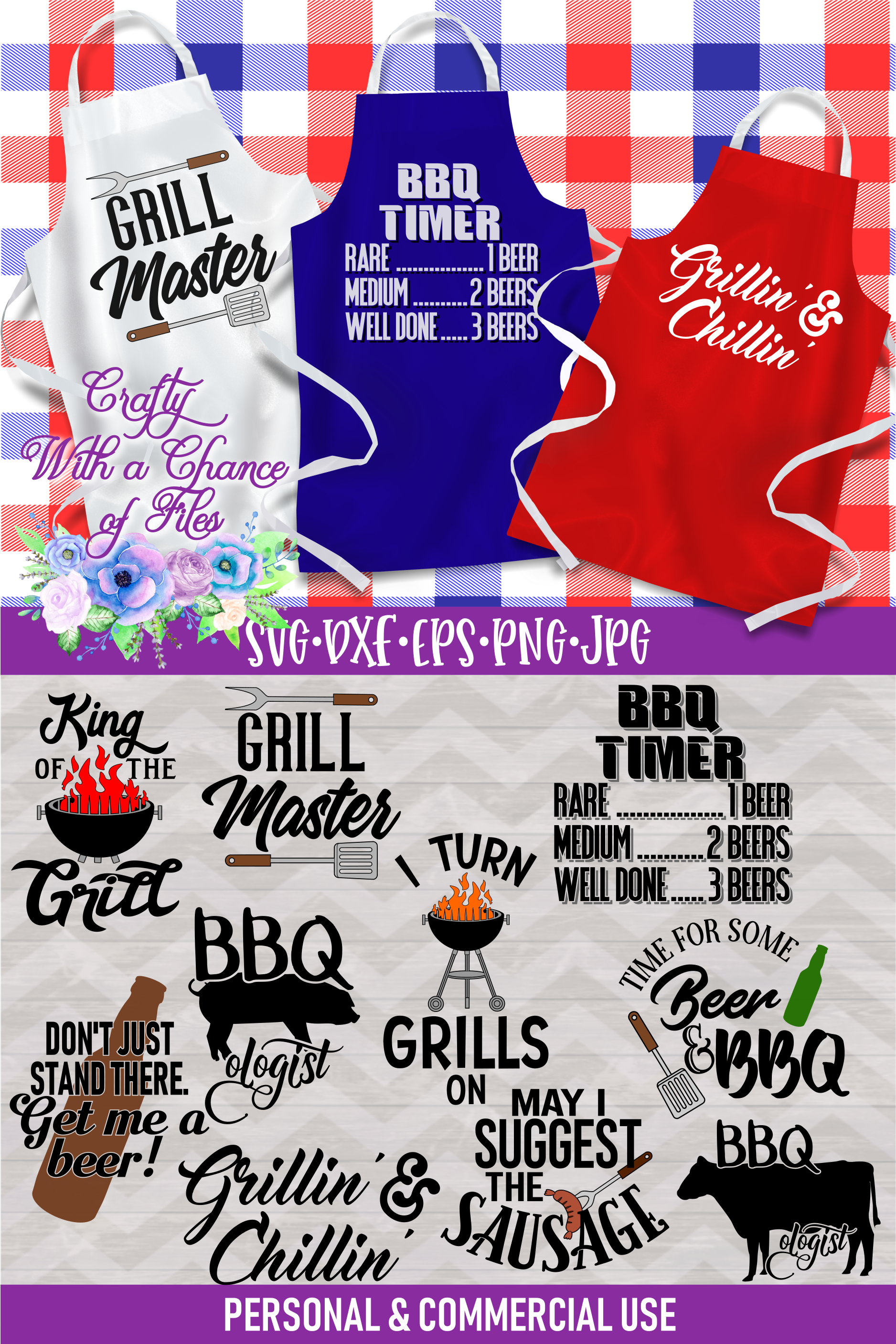 BBQ Grill Apron Bundle | Funny SVG Bundle example image 11