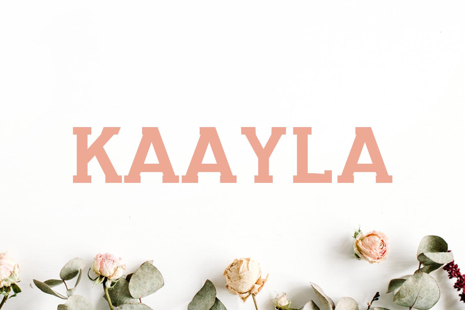 Kaayla Slab Serif 4 Font Pack example image 1