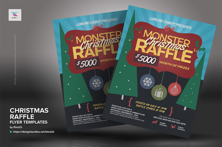 Christmas Raffle Flyer Templates example image 4