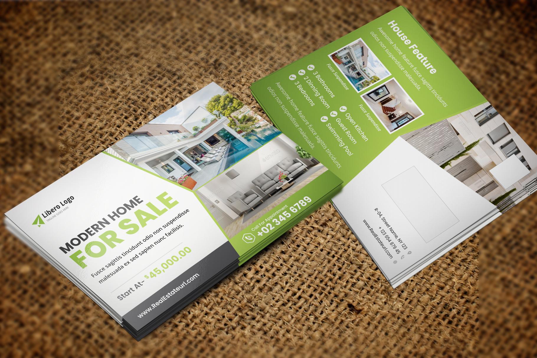Real Estate Postcard Design v2 example image 2
