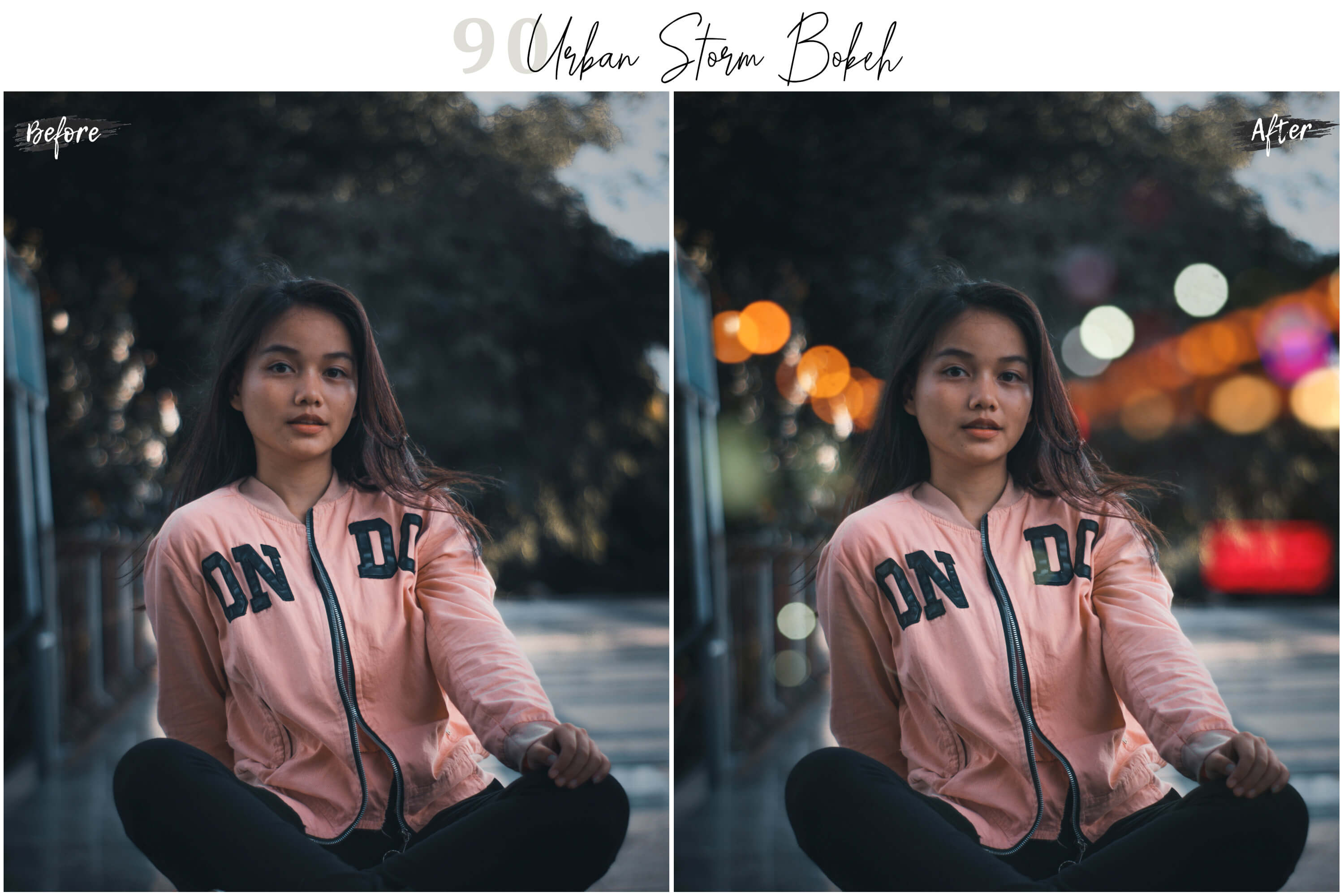 90 Urban Bokeh and lights Effect Photo Overlays example image 3