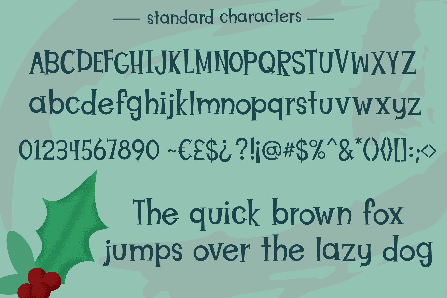 Christmas Puppies Font Pair example image 2