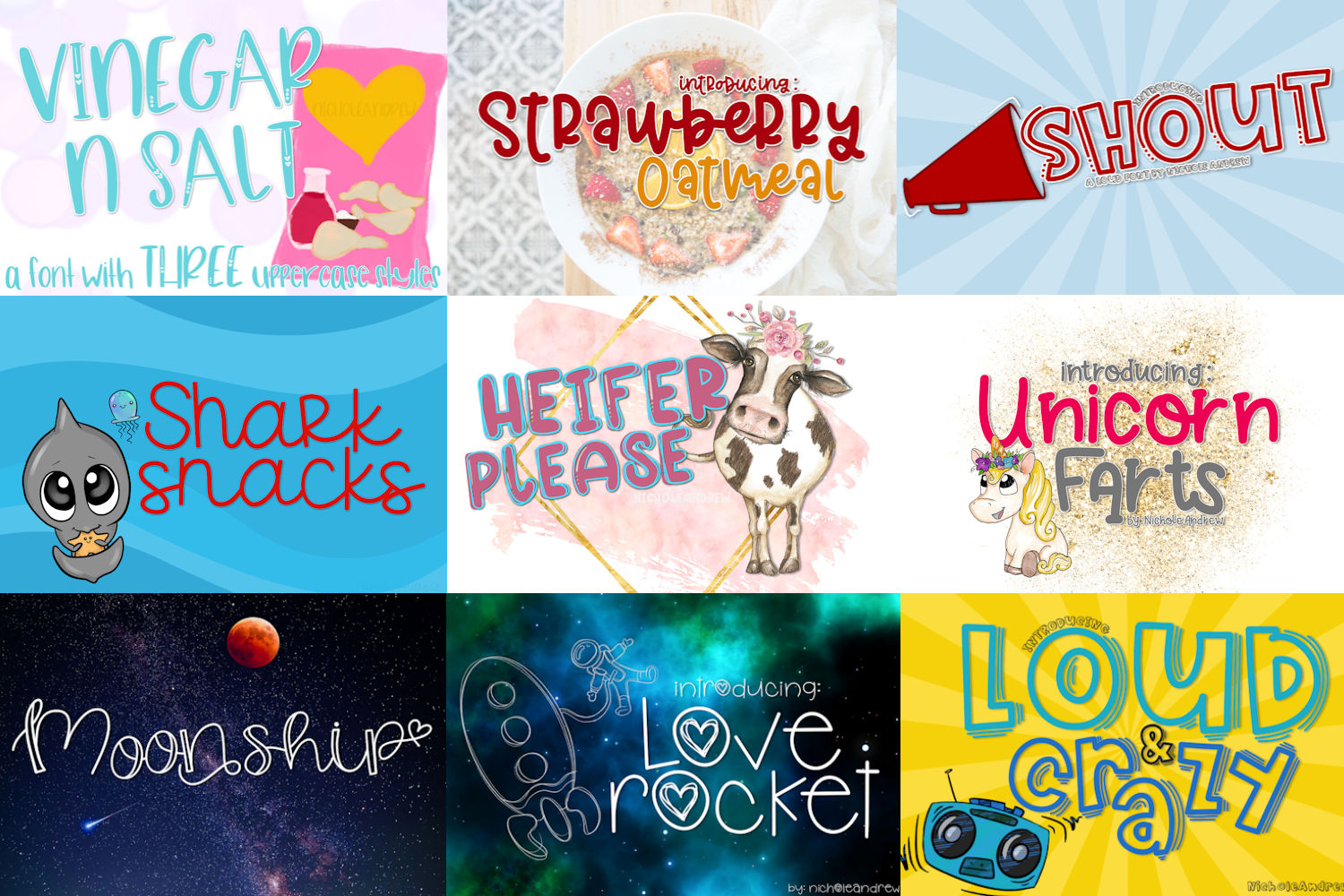 The Fun Font Bundle - Includes 20 Fonts! example image 2