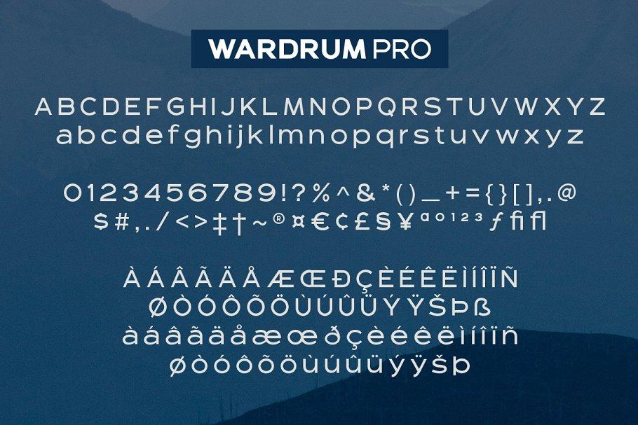 Wardrum PRO Sans Serif example image 9