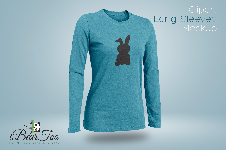 Rabbit SVG Black Clipart Bunny Drawing Vector Cut Files example image 10