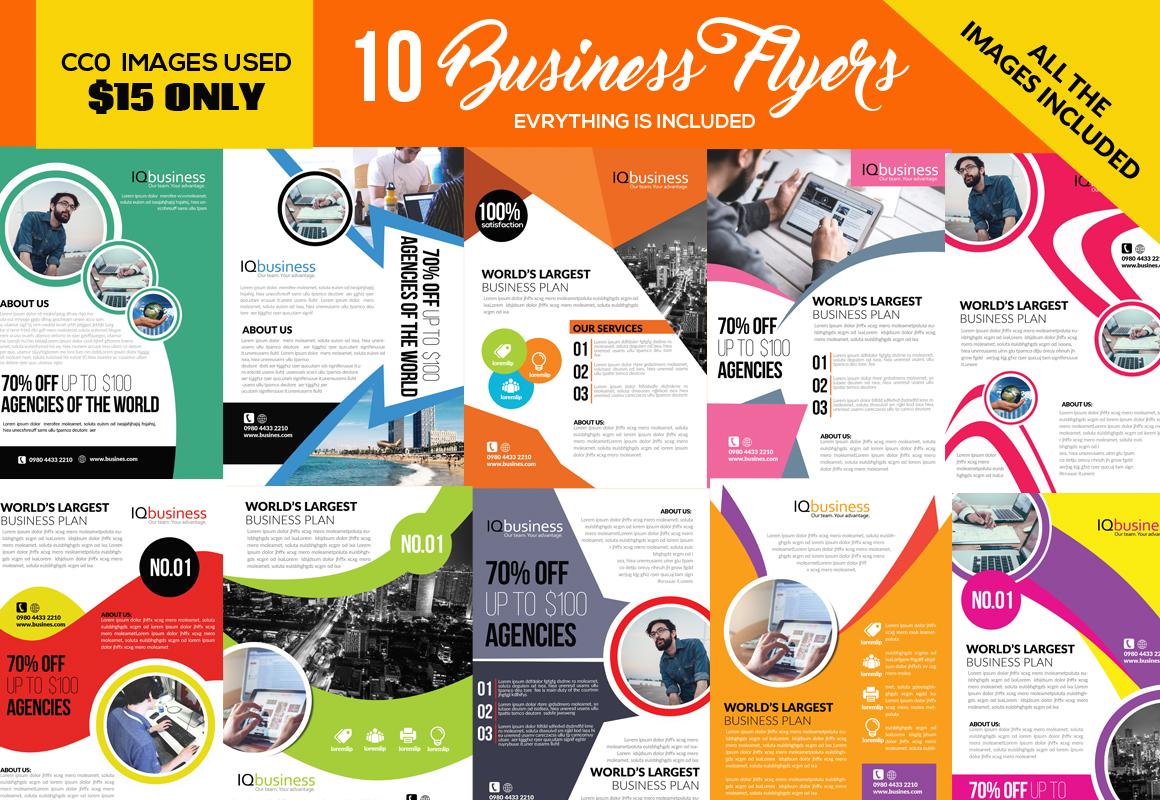 10 Multi Purpose Flyer Bundle 09 example image 1