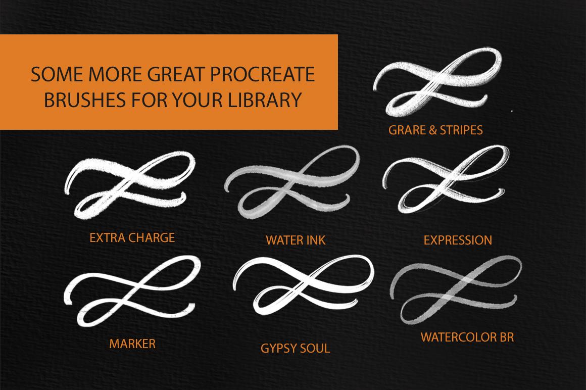 Better Letter. Procreate Brush Set. example image 11