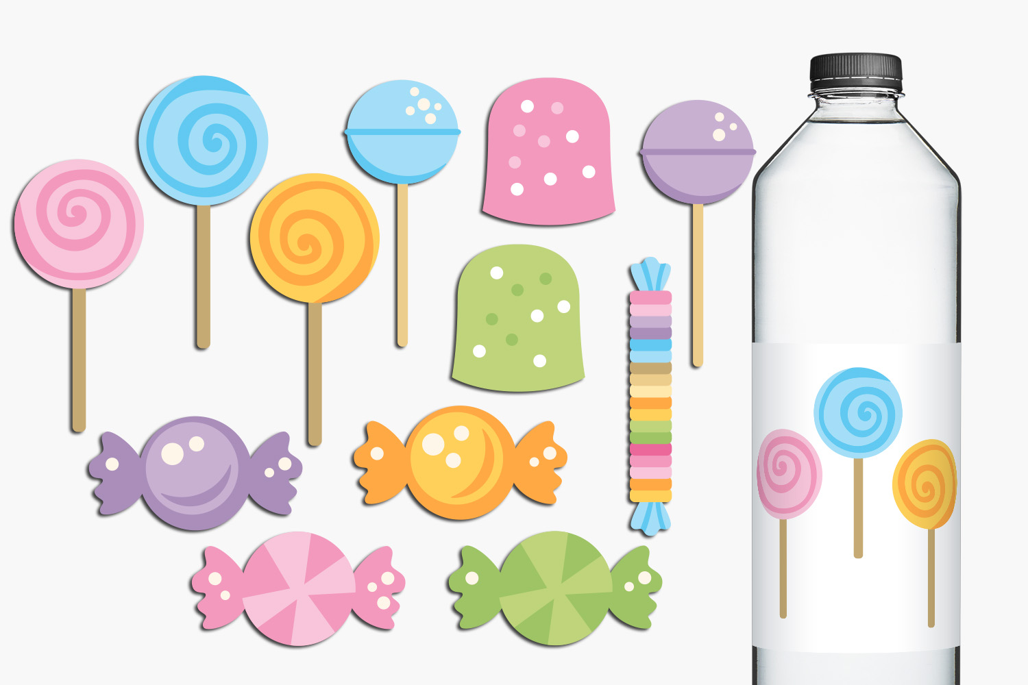 Lollipops and sweets illustrations example image 1
