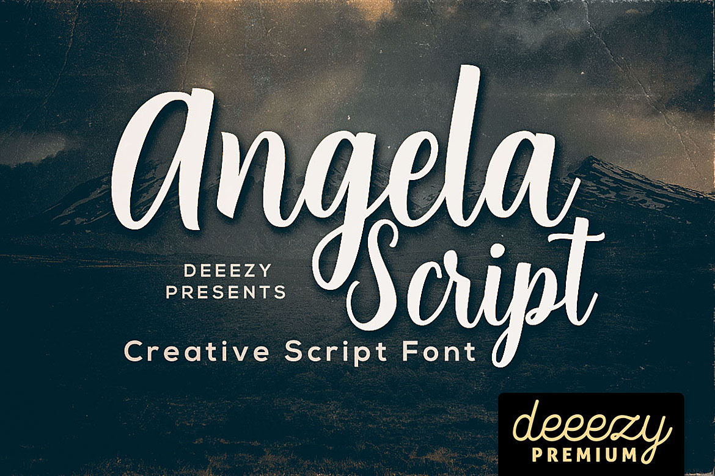 Angela Script Font example image 1
