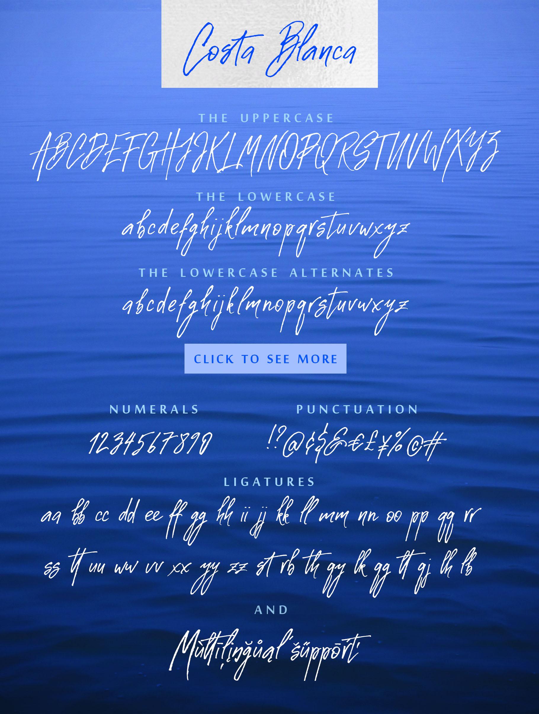 Costa Blanca script font + Extras example image 4