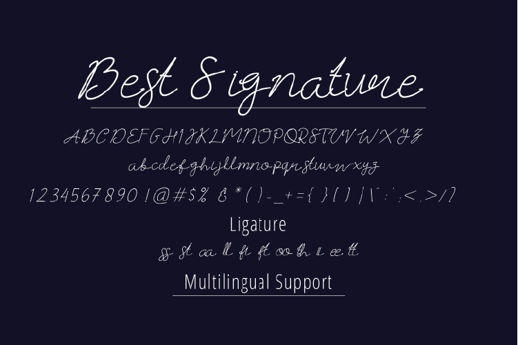 Best Signature Fonts example image 4