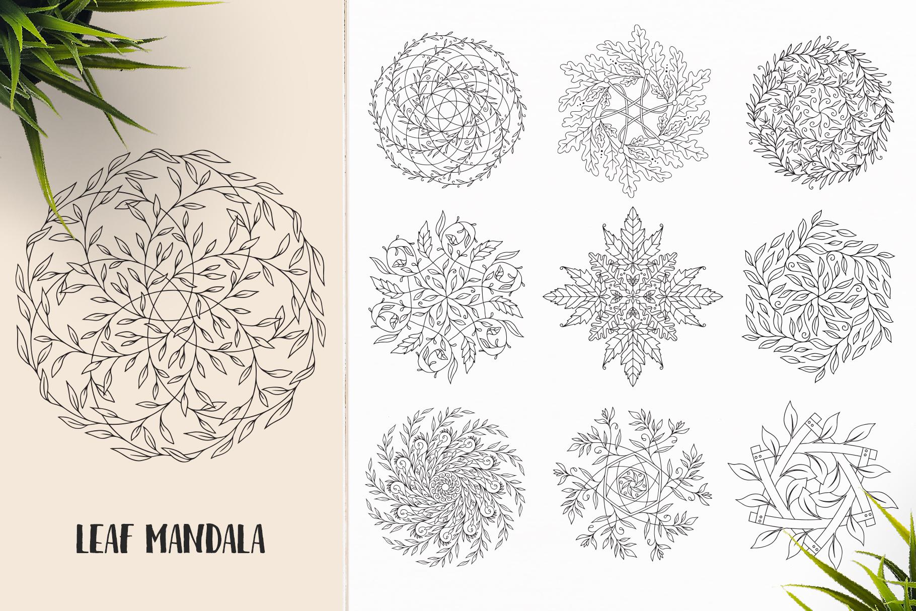 530 Vector Mandala Ornaments Bundle example image 20