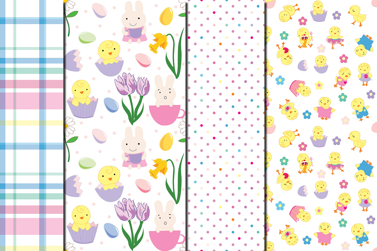 Happy Easter seamless digital paper pack example image 3